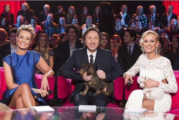 Natacha Harry, Stéphane Bern et Elodie Gossuin, les présentateurs de la soirée.
