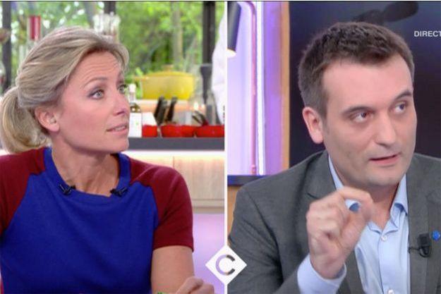 Anne-Sophie Lapix et Florian Philippot sur France 5 mercredi.