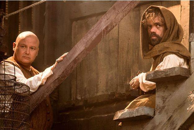 """Varys et Tyrion Lannister dans une image de la cinquième saison du """"Trône de fer""""."""