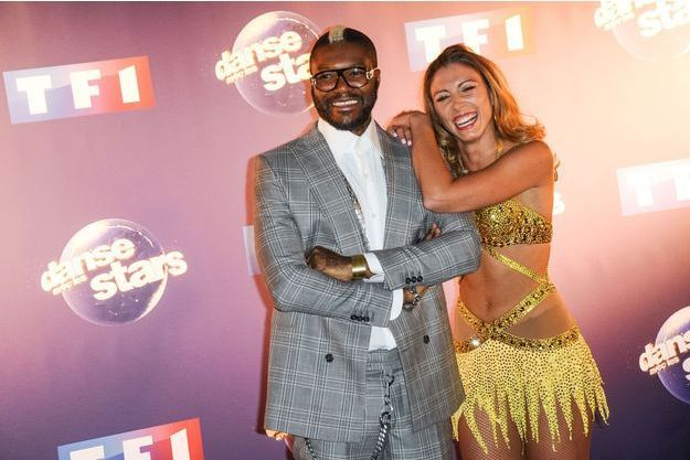 Djibril Cissé et sa danseuse Silvia Notargiacomo.