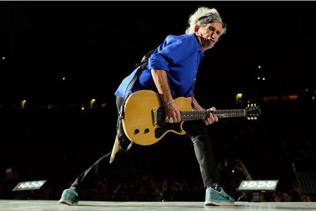 Keith Richards en concert à New York avec les Rolling Stones, le 11 juillet dernier.