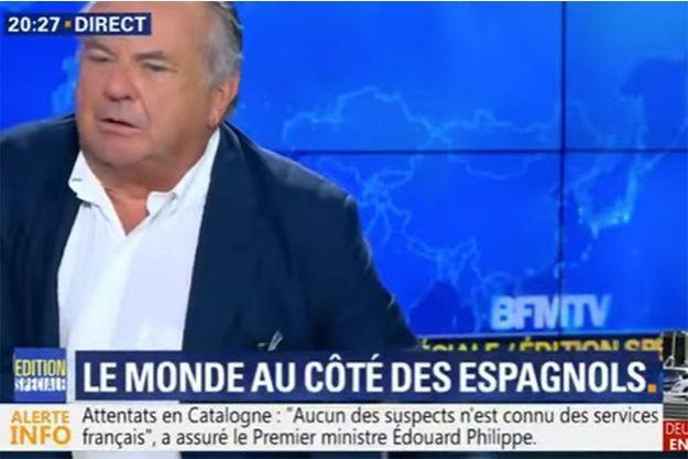 Alain Marsaud a quitté le plateau de BFMTV vendredi soir.