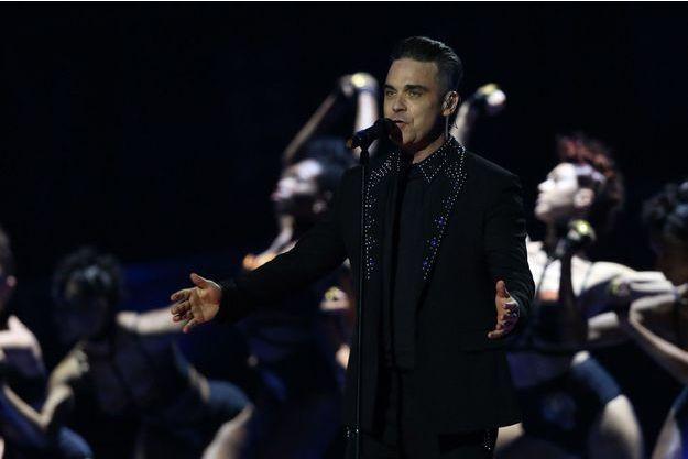 Robbie Williams lors des Brit Awards, en février dernier.