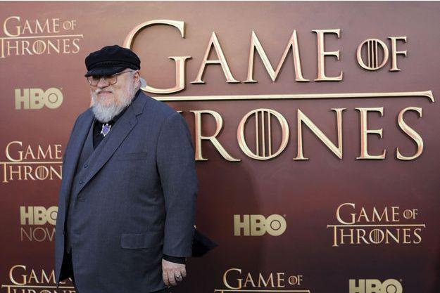 """George R.R. Martin à l'avant-première de la saison 5 de """"Game of Thrones"""" en mars 2015."""