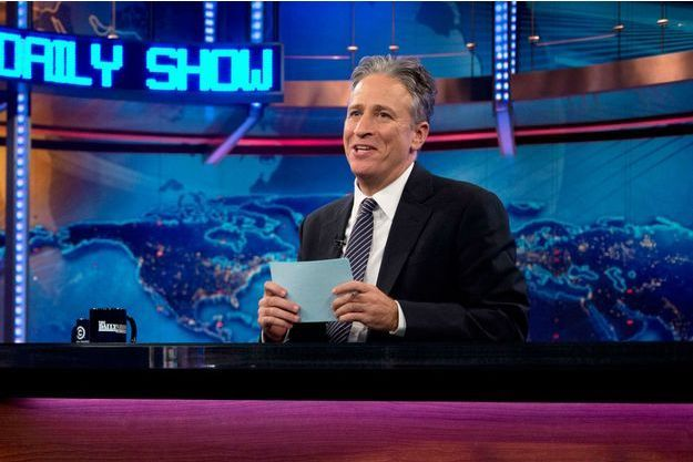 """Jon Stewart sur le plateau du """"Daily Show""""."""