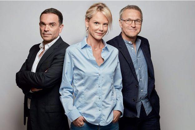 Yann Moix, Vanessa Burggraf et leur patron.
