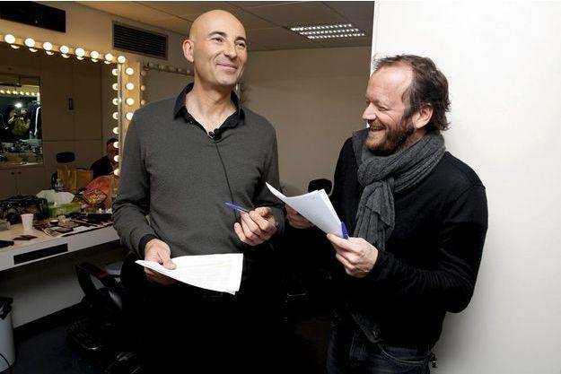 Nicolas Canteloup et Stephane Joly, metteur en scène.
