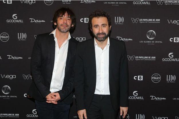 Thomas VDB et Mathieu Madénian aux Globes de Cristal, en janvier dernier.