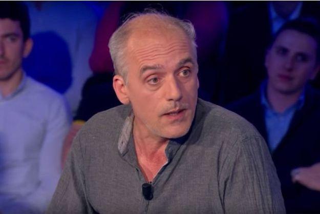 """Philippe Poutou sur le plateau d'""""On n'est pas couché"""" samedi."""