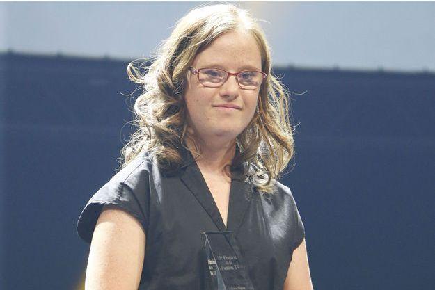 Marie Dal Zotto, jeune espoir féminin au Festival de la Fiction TV de La Rochelle, en septembre dernier.