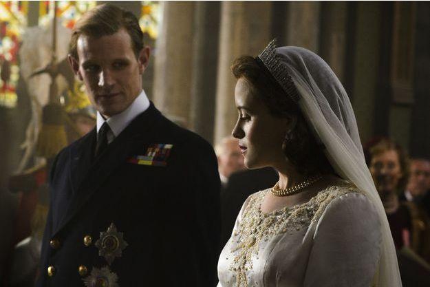 Matt Smith (le prince Philip) et Claire Foy (Elizabeth II).