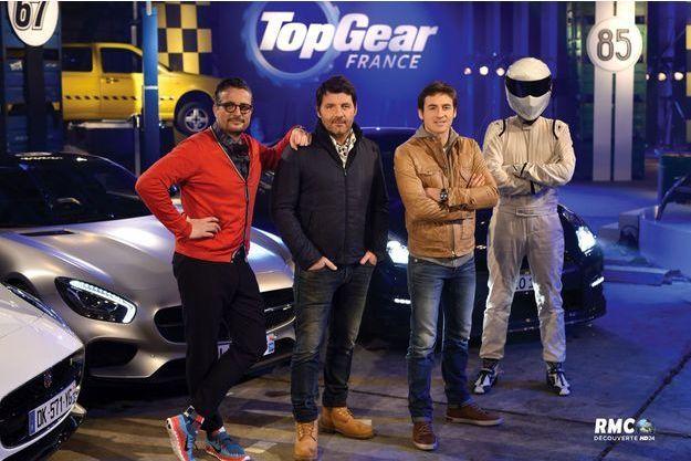 Le Tone, Philippe Lellouche, Bruce Jouanny et le Stig, les quatre figures de l'émission.
