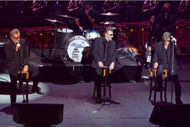 Les Vieilles Canailles à Carcassonne, le 5 juillet 2017, le dernier concert de Johnny Hallyday.