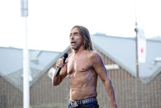 Iggy Pop a fait dimanche soir sa première apparition au festival Rock en Seine.