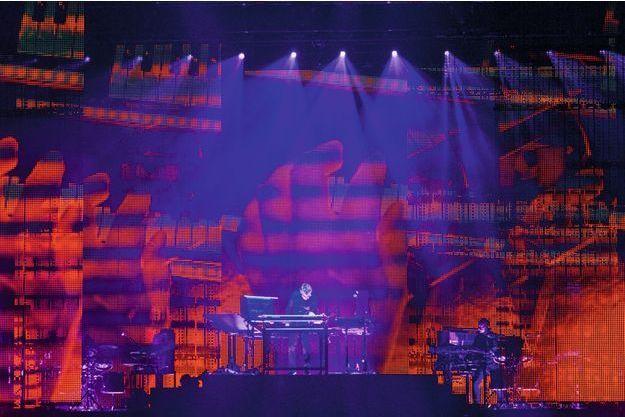 Jean-Michel Jarre en concert à Budapest.