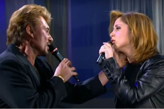 Johnny Hallyday et Lara Fabian