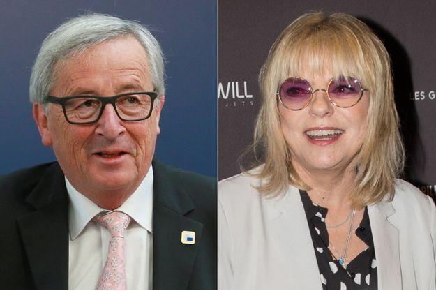 Jean-Claude Juncker en avril 2017 et France Gall en janvier 2017.