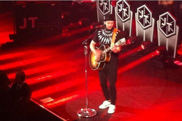 Justin Timberlake à Paris, jeudi soir.