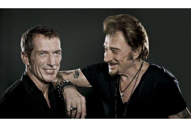 Christophe Miossec et Johnny Hallyday.