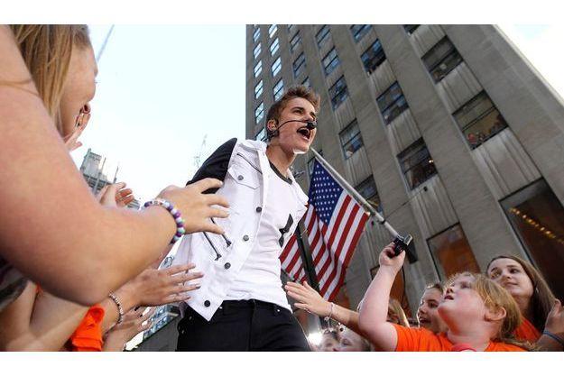 """Justin Bieber en """"live"""" à New York, le 15 juin pour la chaîne NBC."""