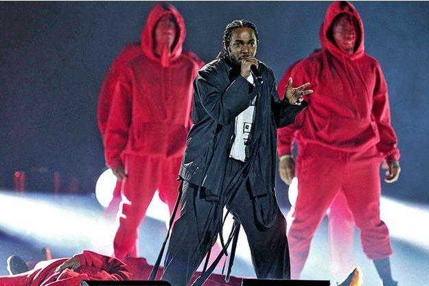 Kendrick Lamar sur scène.