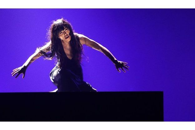 Loreen lors de la finale de l'Eurovision, samedi soir.
