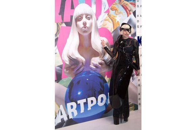 Lady Gaga lors de la sortie de son album «ARTPOP» à New York en novembre 2013