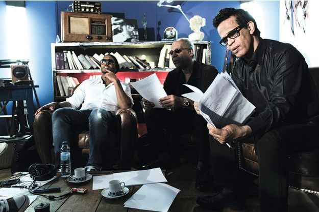 Les Soul Men en studio pendant l'enregistrement.