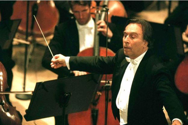 Claudio Abbado avec le Philharmonique de Berlin, le 11 mai 1997.
