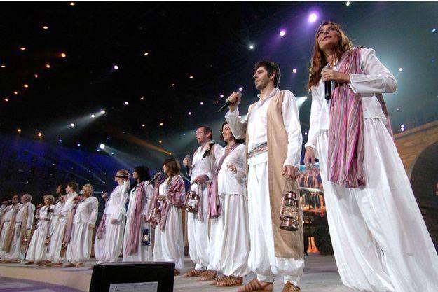 Les Enfoirés en concert pour les Restos du coeur au Zénith de Nantes en 2007