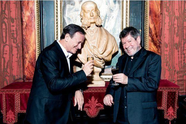 Francis Huster et Régis Laspalès