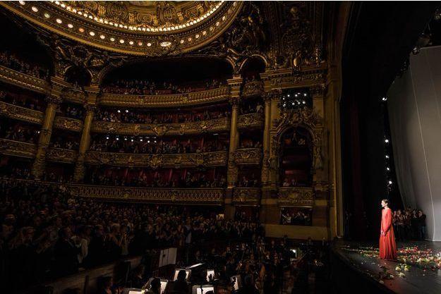 Marie-Agnès Gillot sur la scène du Palais Garnier, samedi soir à Paris.