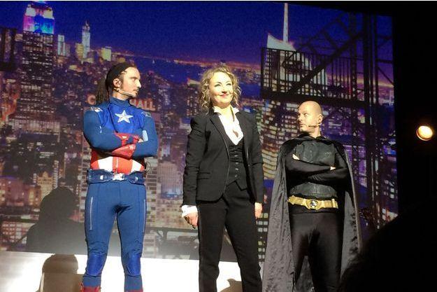 Christelle Chollet et ses supermen.