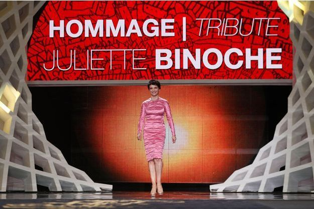 Juliette Binoche lors de l'hommage rendu par le Festival de Marrakech.