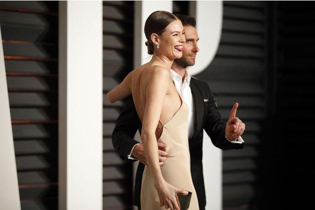 Adam Levine et Behati Prinsloo en février 2015.