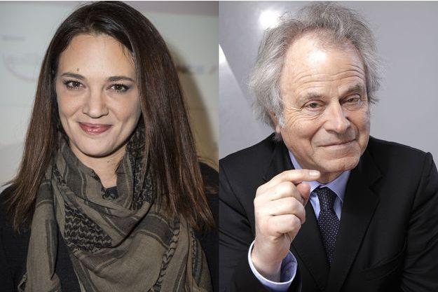 Asia Argento et Franz-Olivier Giesbert.