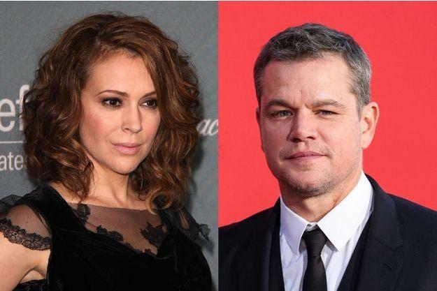Alyssa Milano et Matt Damon