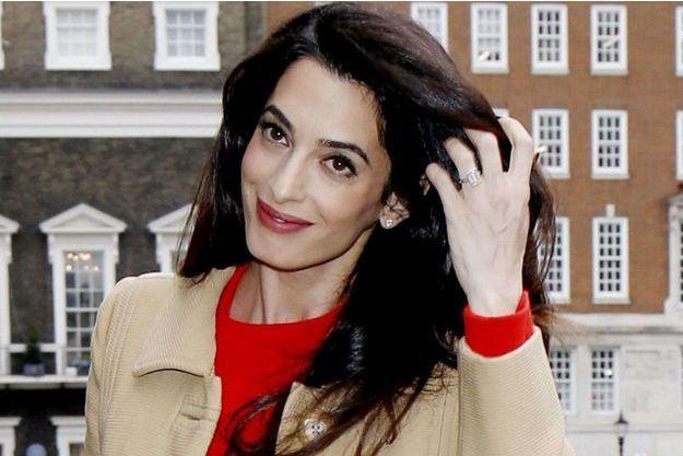 Amal Clooney, l'heureuse maman.