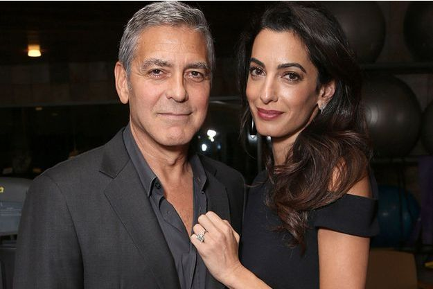 Amal et George Clooney à Los Angeles en octobre 2016.