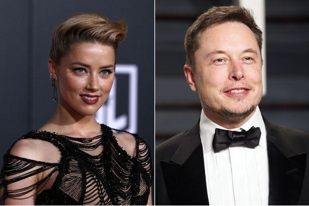 Amber Heard et Elon Musk (montage).