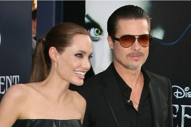 Angelina Jolie et Brad Pitt, le 29 mai 2014 à Los Angeles.