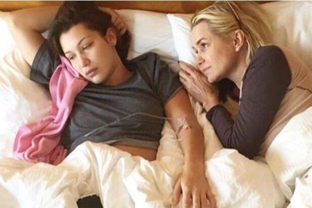 Bella Hadid et sa mère, Yolanda.