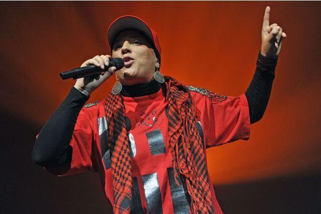 Diam's en concert à Paris en 2010.