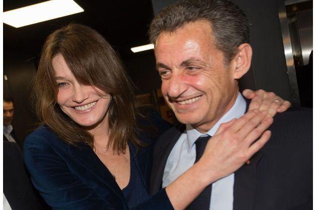 Carla Bruni et Nicolas Sarkozy en janvier 2017.