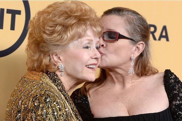 Carrie Fisher et Debbie Reynolds en 2015.
