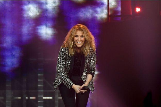 Céline Dion en concert à l'AccorHotels Arena, le 4 juillet 2017 à Paris.