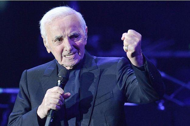 Charles Aznavour sur scène en mars 2018.
