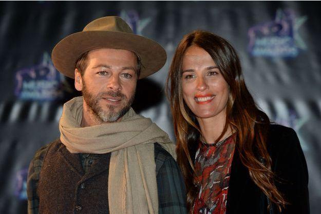 Christophe Maé et sa femme à la 18ème cérémonie des NRJ Music Awards à Cannes, le 12 novembre 2016.