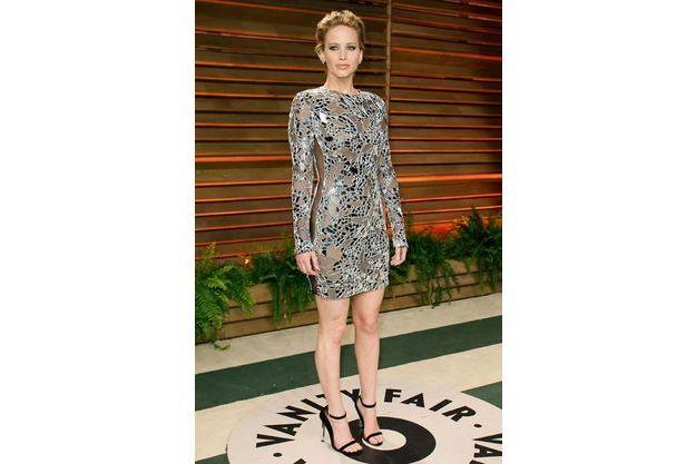 Jennifer Lawrence à la soirée Vanity Faire en mars 2014