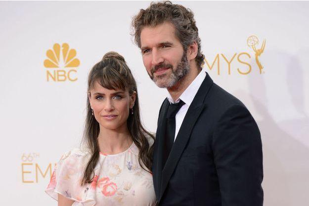 Amanda Peet et son mari, le scénariste et producteur David Benioff, à la cérémonie des Emmy Awards le 25 août dernier